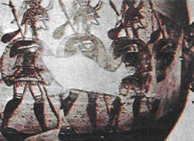 Роспись критской вазы придворные дамы