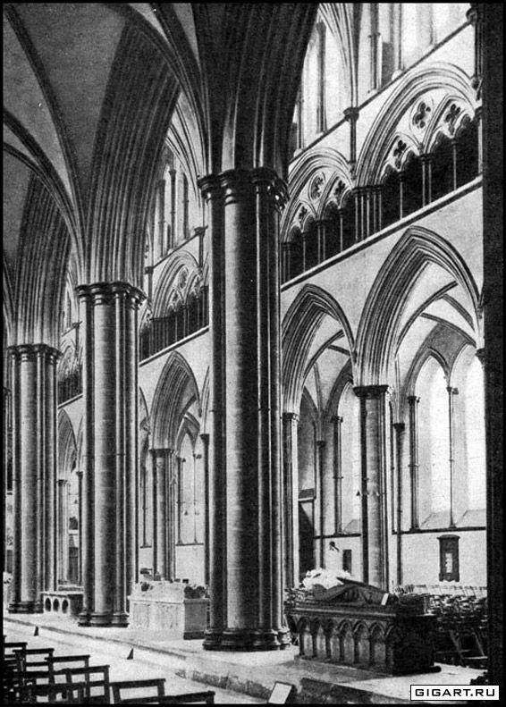 Английская готика интерьер собора в
