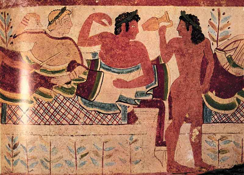Сцена пира саркофаг саркофаг сакофаг